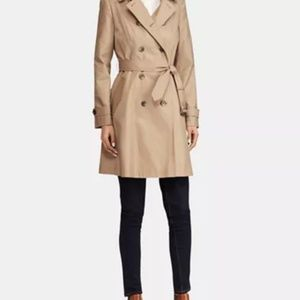 ZARA BELTED DOUBLE BREASTED TRENCH COAT CAMEL